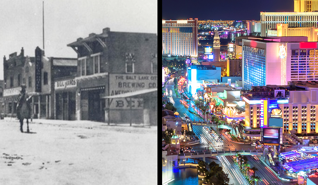 Las Vegas back in the day compared to what the Strip currently looks like.