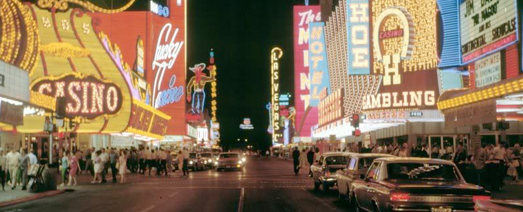 What Fremont Street Las Vegas looked like in the late 60s.