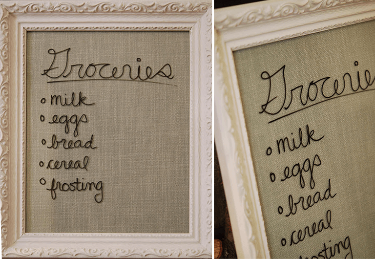 Easy DIY dry erase memo board for condo