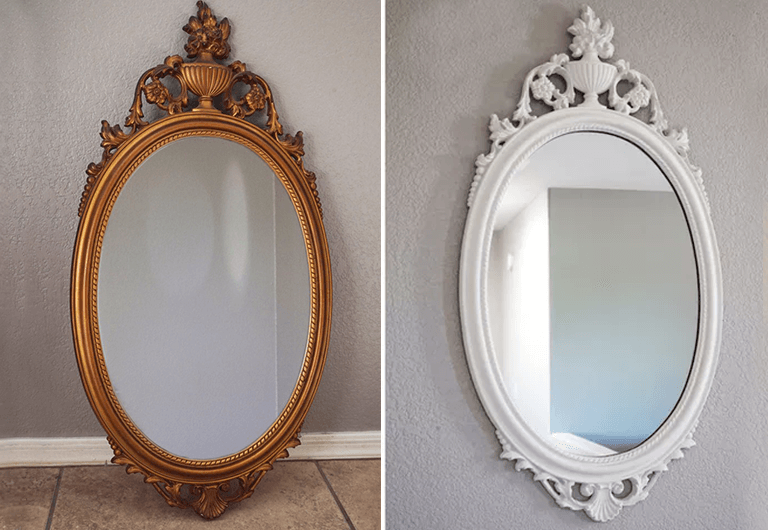 Easy DIY Painted Mirror