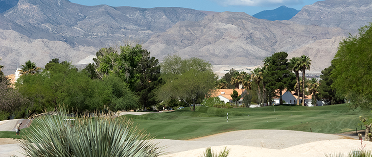 Beautiful golf course in Las Vegas, Nevada