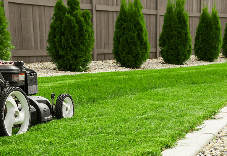 Lawn mower company offering you less maintenance at your condo.