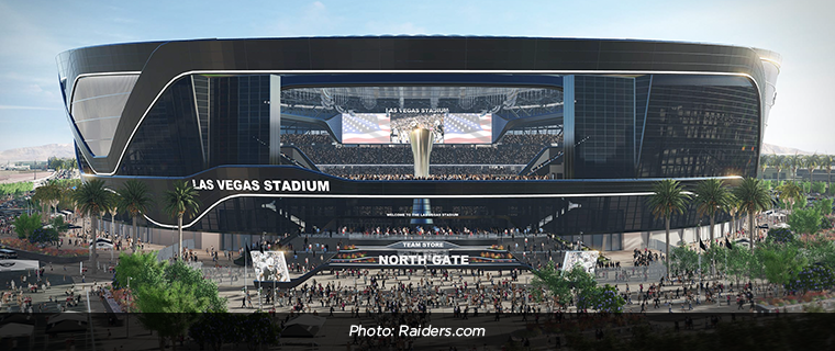 Proposed style of the Las Vegas Raiders stadium.