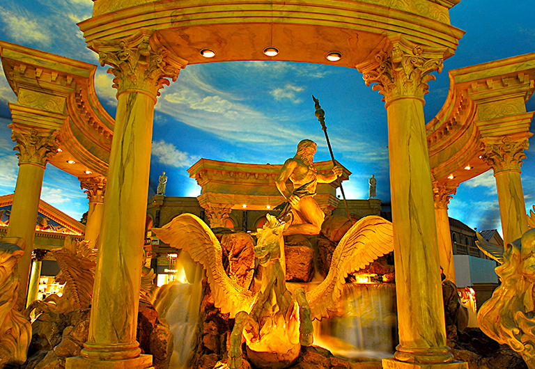 Trevi Fountain replica at Caesar's Palace in Las Vegas, Nevada.