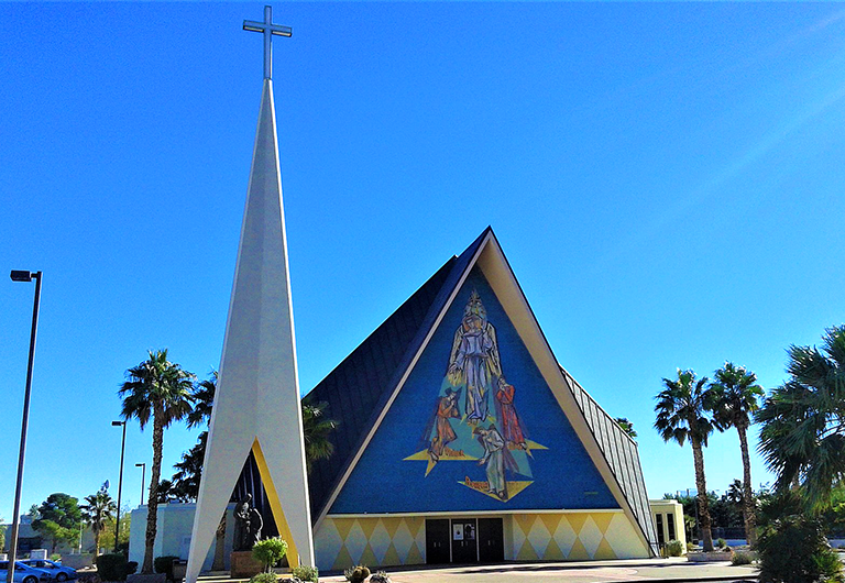 Exterior of the Guardian Angel Cathedral